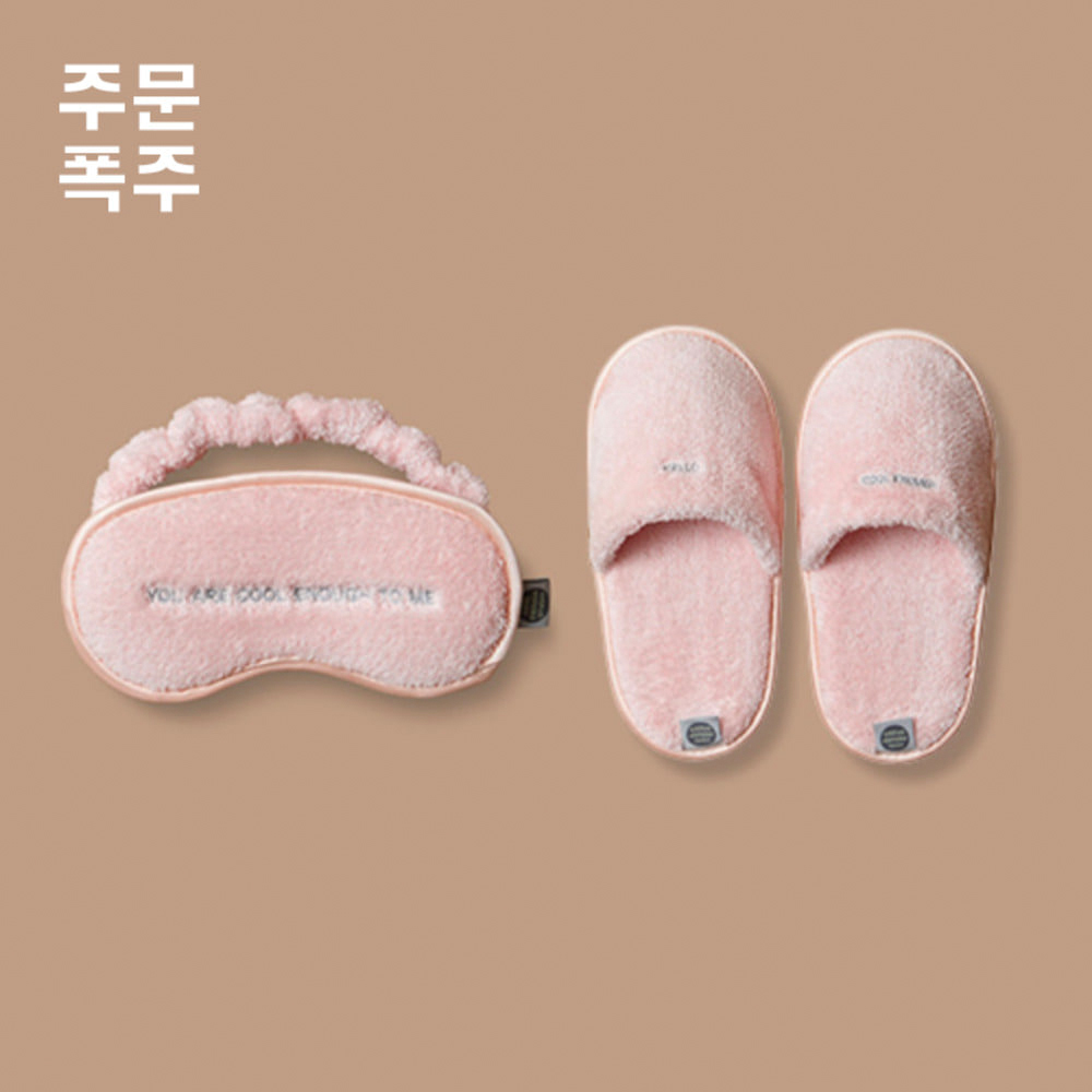 THE SLEEPING MASK&THE TOWEL SLIPPERS[PINK]