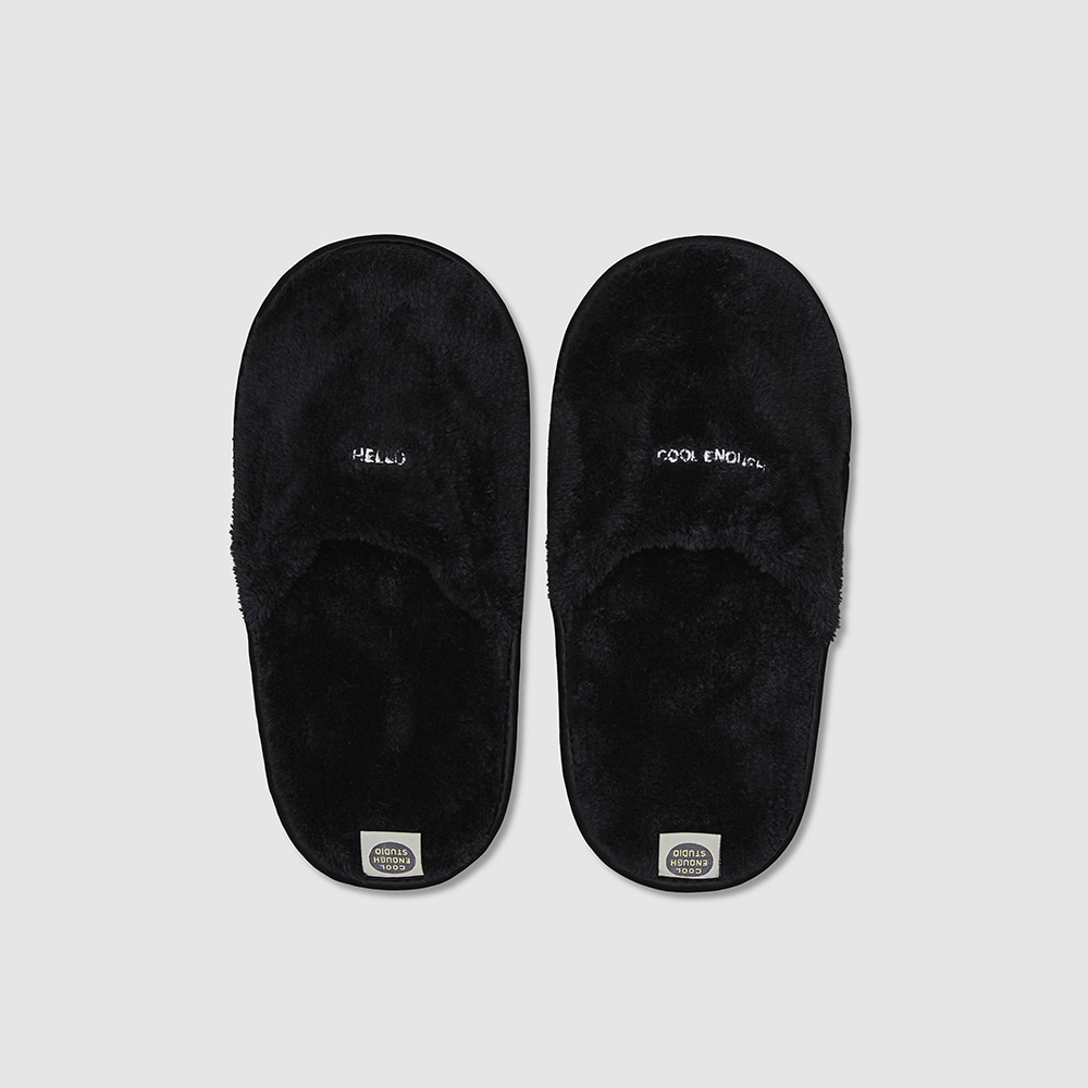 THE TOWEL SLIPPERS_BLACK