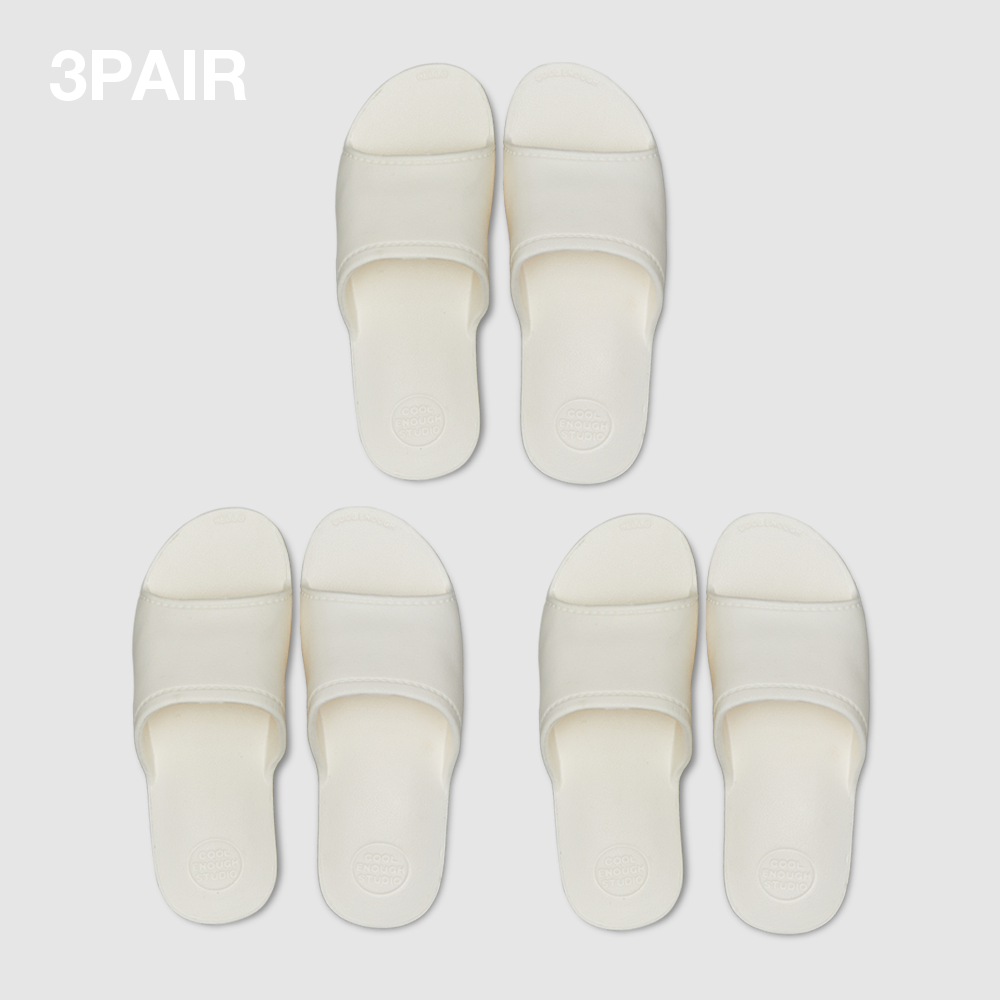 THE PLASTIC SHOES [WHITE] 3PAIR